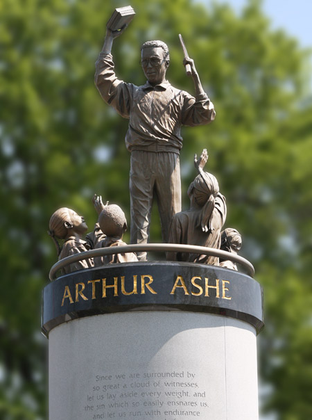 Ashe Monument Arthur Ashe Monument. Here is another of Paul Di Pasquale's